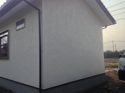 宇佐市T邸 玄関は日田土モルタルシャモット散し仕上げ洗出しの土間0