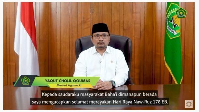 Menag Yaqut Ucapkan Hari Raya Naw-Ruz bagi Bahai
