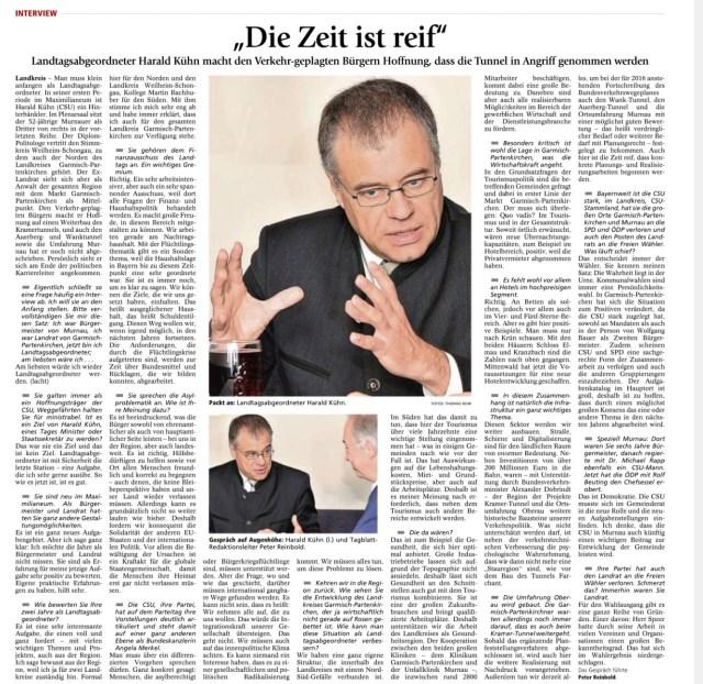 Garmisch-Partenkirchner Tagblatt 10.12.2015