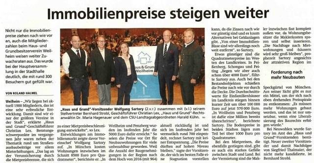 Weilheimer Tagblatt, 24.11.2018