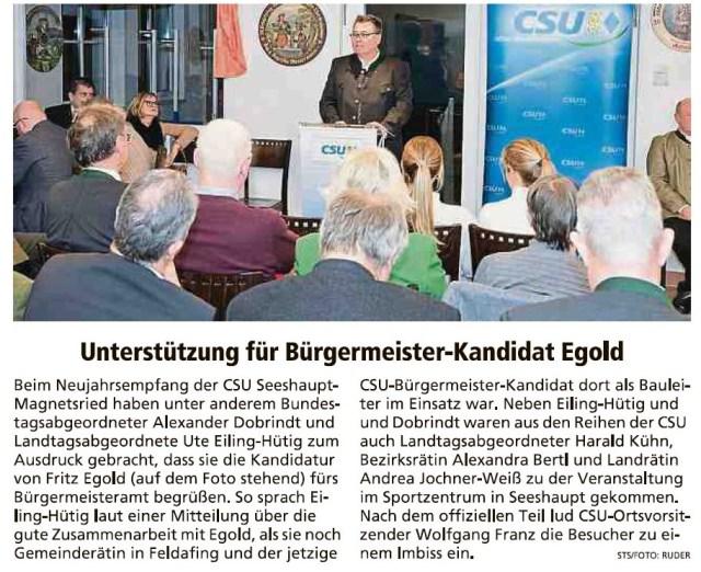 Weilheimer Tagblatt, 6.02.2020