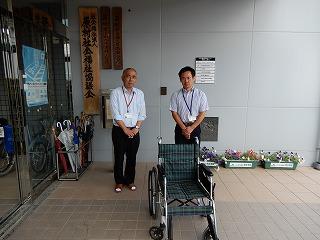 車いすの寄付