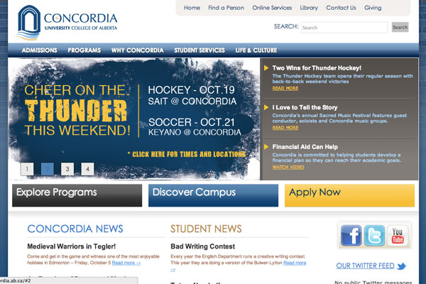 Concordia website