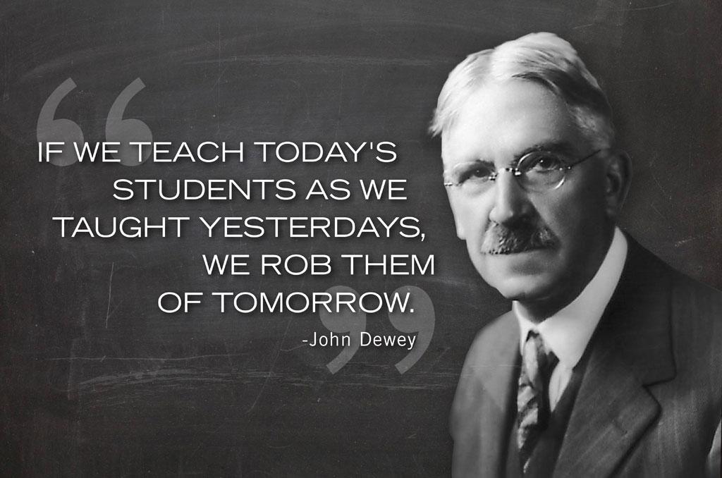 John Dewey - Rob the future