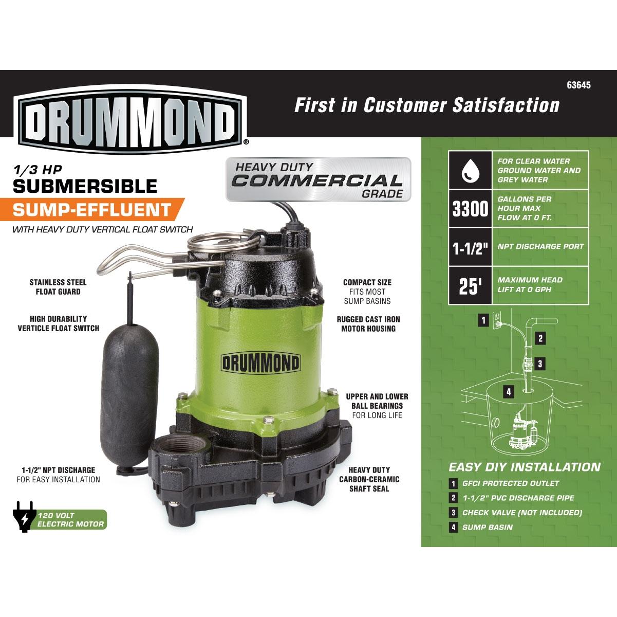 Diamond Sump Pump 1 3 Hp Manual