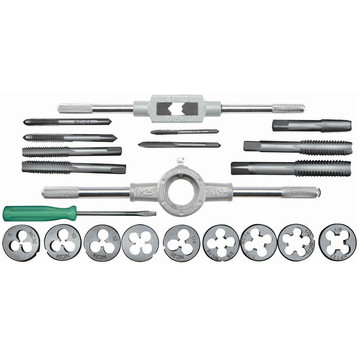 21 Pc Carbon Steel Sae Tap And Set