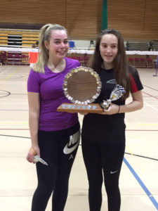 U16's Girls Doubles Winners