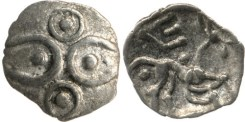 This tiny minim coin is the smallest type produced in the Iron Age. It measures just 1cm across and weighs 0.24g.