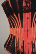 A black and red corset from the Symington Collection