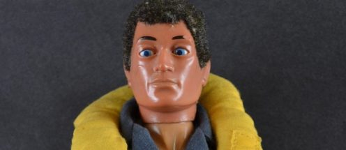 Photograph of an Action Man wearing a life jacket