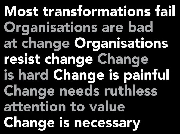 Most transformations fail