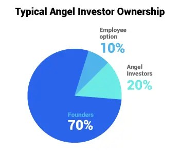 Typical angel investing ownership structure