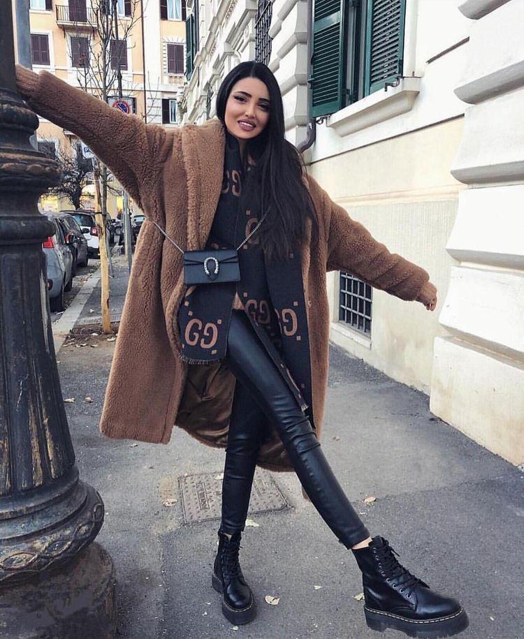 outfit invierno 2020 abrigo largo camel