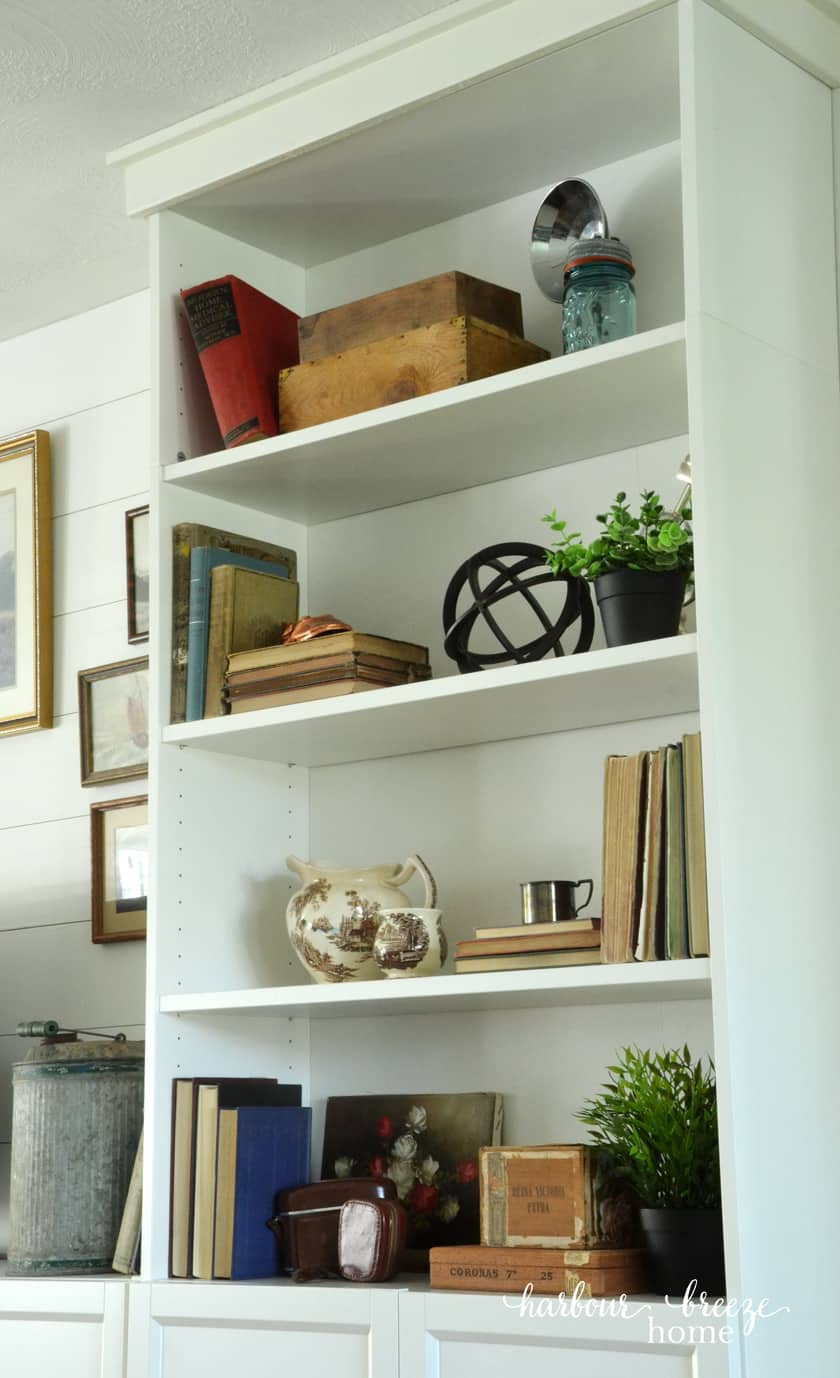 Diy Built Ins From Bookshelves At Ikea Harbour Breeze Home