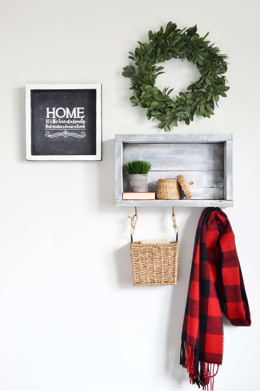 3 Creative Ways To Use A Diy Rustic Wall Shelf With Hooks In
