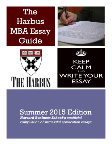 Applying to HBS? Round 2's deadline is coming up in January. Get a copy of our popular Harbus Essay Guide today!