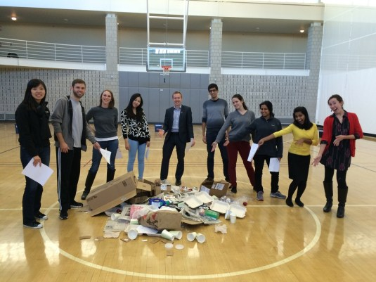 Students at 2014 Garbage Games