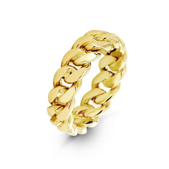 7mm Cuban Link Ring