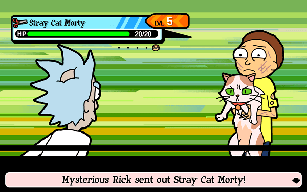 Pocket Mortys Battle