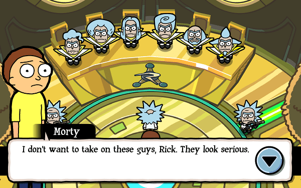 Pocket Mortys Council of Ricks
