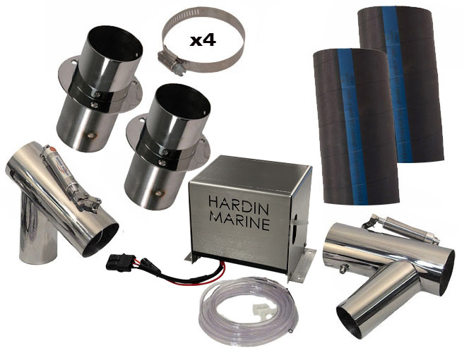 single engine exhaust cut out kit