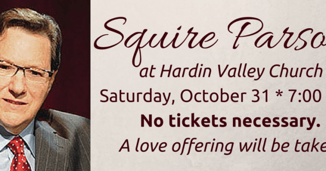 25th Anniversary Celebration with Squire Parsons
