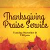 Insta Thanksgiving Praise Service