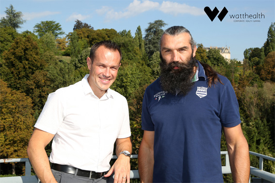 Nicoals Odet - DG Hardis Group - et Sébastien Chabal - ex-international de rugby à XV