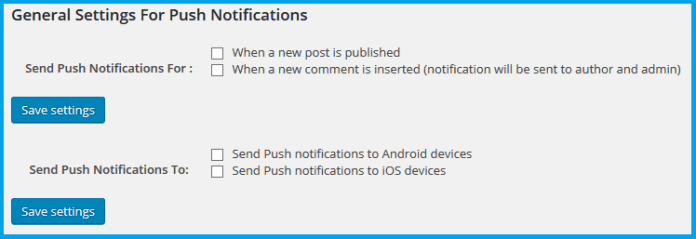 All push notification for WP Image