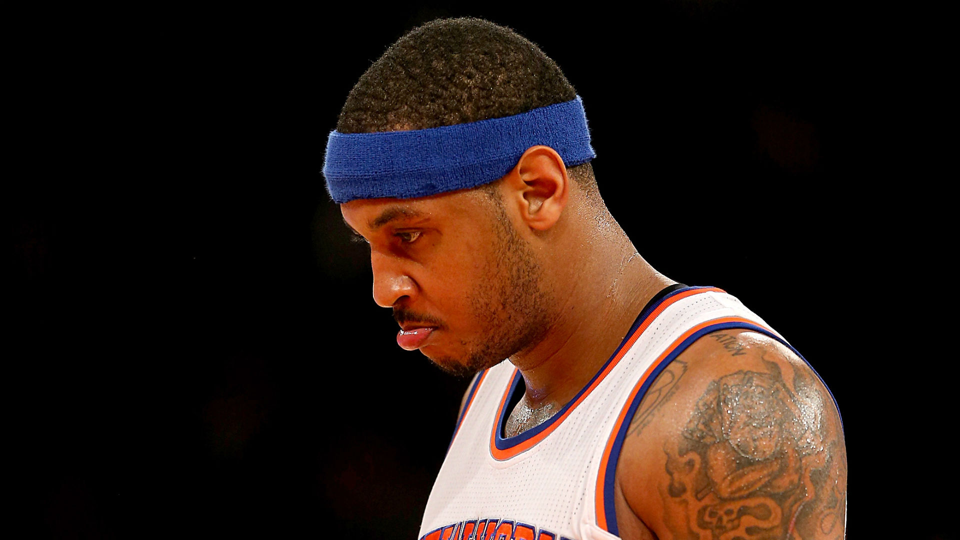 Image result for carmelo anthony sad