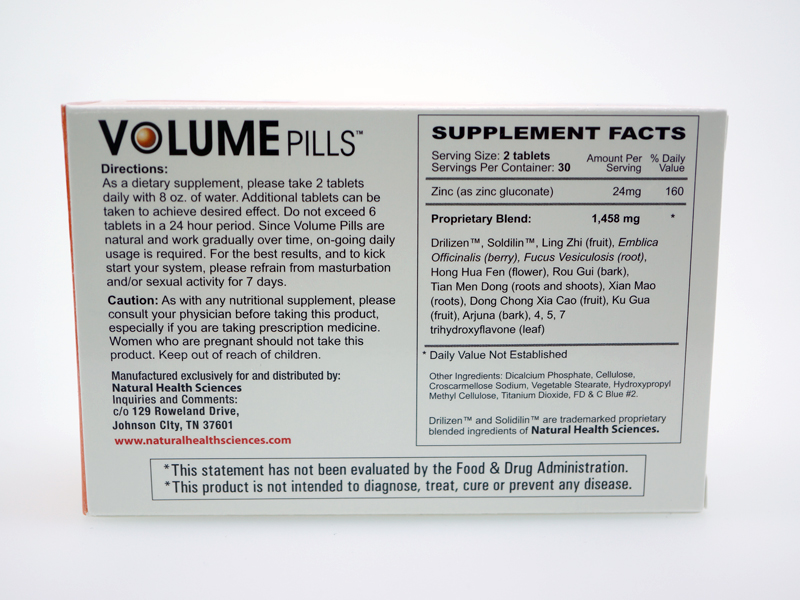 Ingredients in Volume Pills