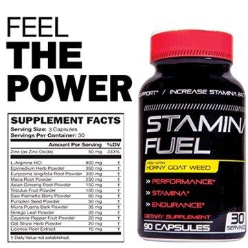 Stamina Fuel Supplement Facts