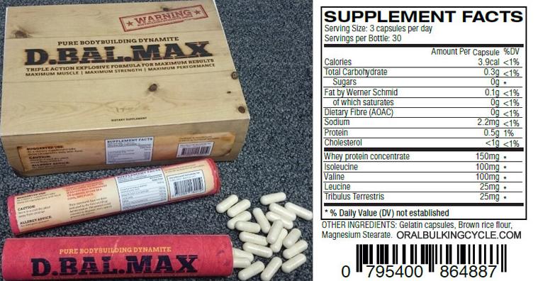 D-bal Max Ingredients