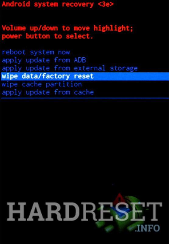 Wipe data ASUS ZE553KL ZenFone 3 Zoom