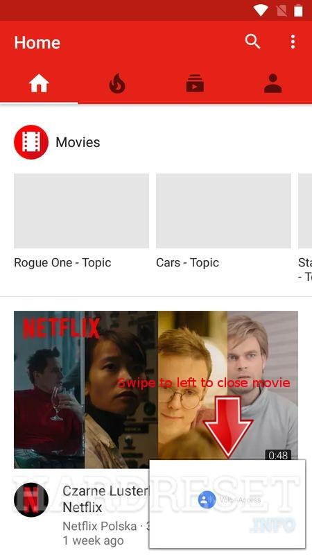 youtube app close video