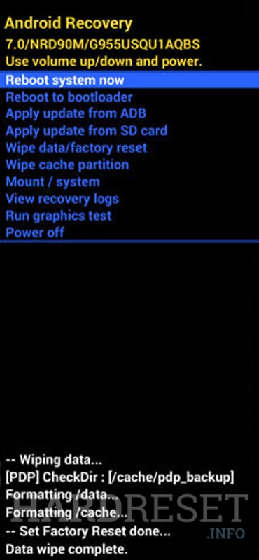 Recovery Mode SAMSUNG Galaxy S10 Plus Exynos