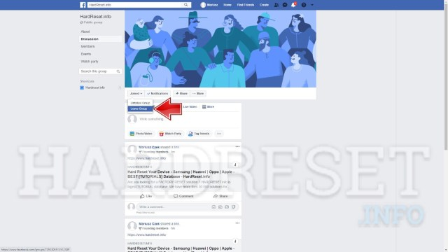 How to Leave Group in Facebook, how to - HardReset.info