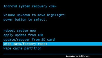 hard reset - wipe data factory reset