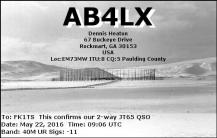 EQSL_AB4LX_20160522_090800_40M_JT65_1