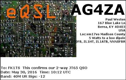 EQSL_AG4ZA_20160530_101300_40M_JT65_1