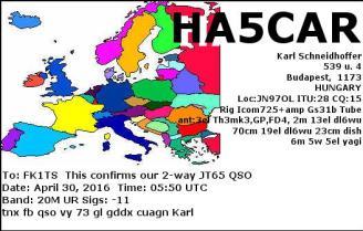 EQSL_HA5CAR_20160430_055000_20M_JT65_1