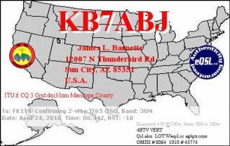 EQSL_KB7ABJ_20160424_064500_30M_JT65_1