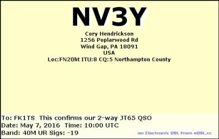 EQSL_NV3Y_20160507_100800_40M_JT65_1
