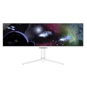 LC Power LC-M44-DFHD-120 Gaming monitor 111.3 cm (43.8 inch) Energielabel G (A - G) 3840 x 1080 Pixel UHD 4 ms Audio, stereo (3.5 mm jackplug), DisplayPort,