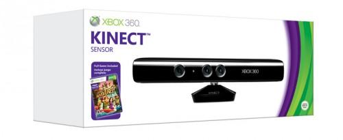 Kinect na caixa.