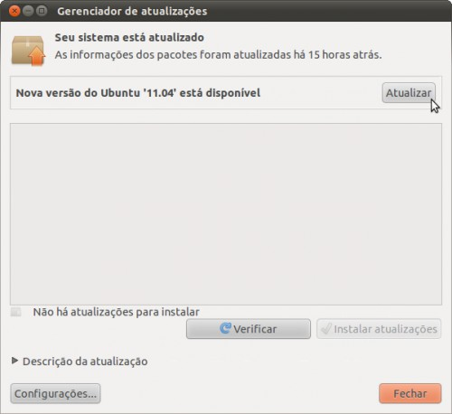 Update Manager no Ubuntu