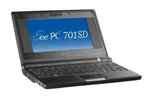 Asus Eee PC 701, baseado no Celeron-M.