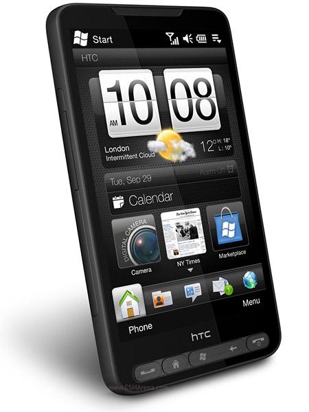 HTC HD2: a interface desenvolvida pela HTC, TouchFlo HD, tenta disfarçar a idade do sistema