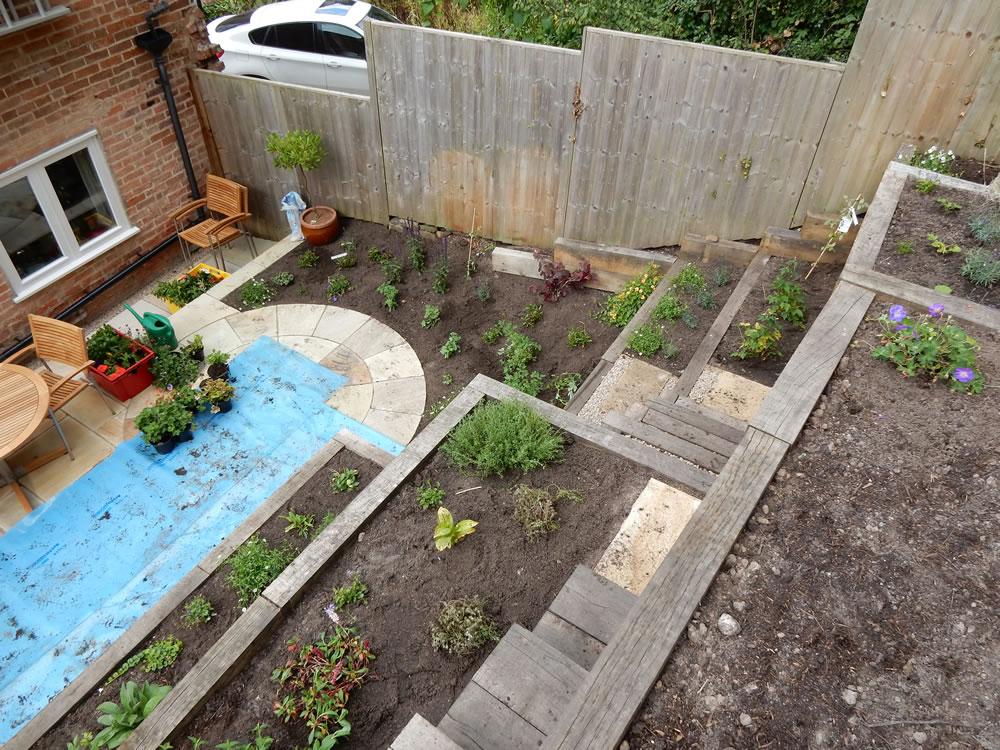 Steep Slope Garden Designs | Garden Designer Staffordshire on Backyard With Slope Ideas  id=33106