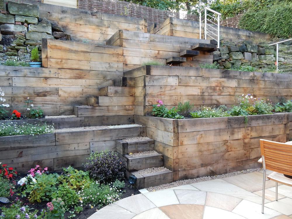 Steep Slope Garden Designs | Garden Designer Staffordshire on Steep Hill Backyard Ideas id=84357